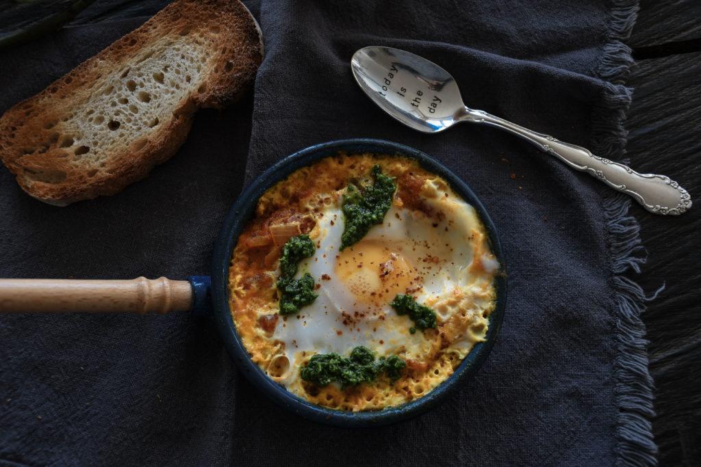 Shakshuka - herzhaftes Israelisches Frühstück mit